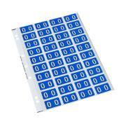 Codafile 162565 Alpha 25mm Label 'O' Blue Pack 200 labels