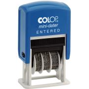 Colop Mini Date 'Entered' Self-Inking Stamp With Blue & Red Ink