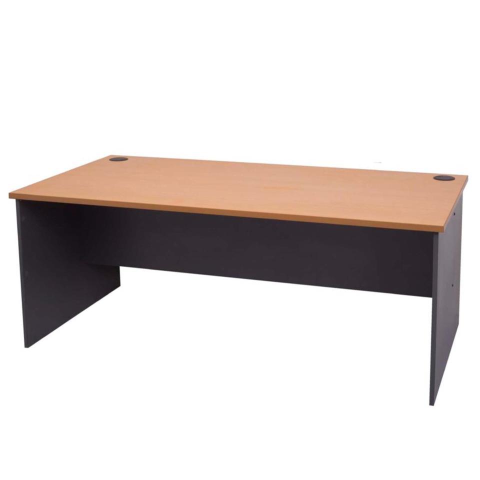 Rapid Line Open Desk 730h x 1500w x 750dmm Beech/Ironstone
