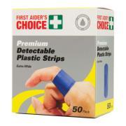 Metal Detectable Bandaids Blue Pack 50