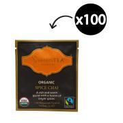 SereniTEA Organic & Fairtrade Spice Chai Enveloped Pyramid Tea Bags Pack 100