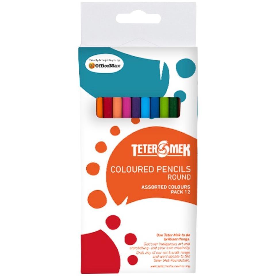 Teter Mek Round Coloured Pencils Pack 12