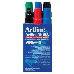 Artline 5109A Whiteboard Marker 10mm Big Nib Assorted Colours Pkt 6
