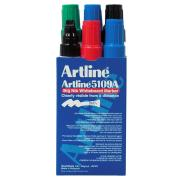 Artline 5109A Whiteboard Marker 10mm Big Nib Assorted Colours Pack 6