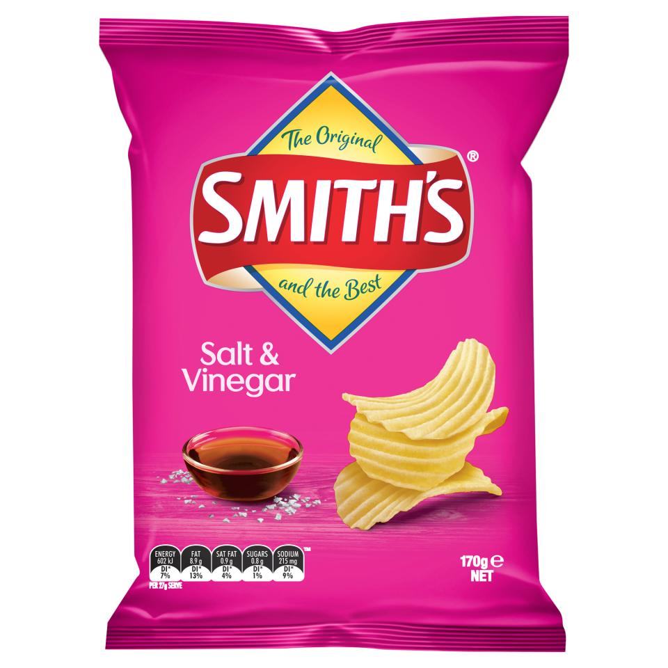 Smiths Chips Crinkle Cut Salt & Vinegar 170g