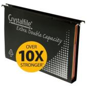 Crystalfile Suspension File 100% Recyclable Black Pack 10