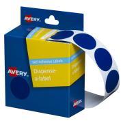 Avery Circle Dispenser Labels 24mm Diameter Blue 500 Labels