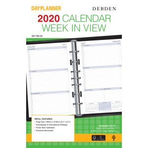 Debden DK 1700 2020 Desk Organiser Refill Week to View 140 x 216mm