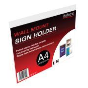 Deflecto Sign/menu Holder Landscape Wall Mount A4 Clear