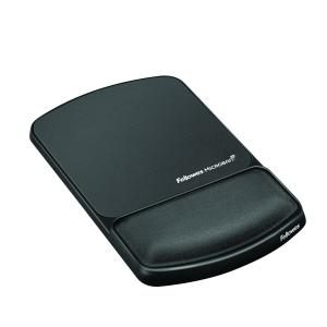 Fellowes Mouse Pad with Wrist Rest Microban Protection Graphite