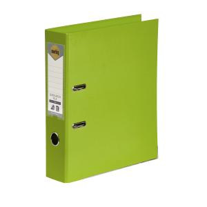 Marbig Lever Arch PE Linen A4 Lime