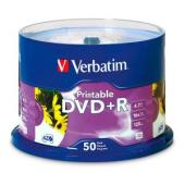 Verbatim Printable DVD+R 4.7 GB / 16x / 120 Min - 50-Pack Spindle