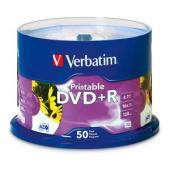 Verbatim Printable DVD+R 4.7 GB / 16x / 120 Min - 50-Pack Spindle