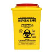 Uneedit Sharps Disposal Safe Yellow Standard Square 1.7 Litre