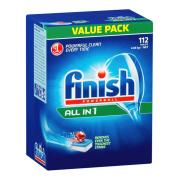 Finish All-In-One Dishwasher Tablets Regular Box 112