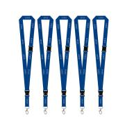Corporate Express Pre-Printed Staff Lanyards Blue Pack 5