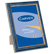 Carven A4 Certificate Timber Look Frame Blue/Gold Trim
