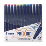 Pilot Frixion Erasable Pen Fineliner 0.45mm Assorted Box 12