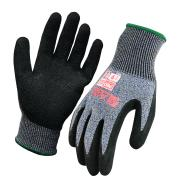 Paramount Safety and Arax Dry Grip Gloves Cut D Cut Resistant Latex Palm Grey Pair