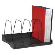Arnos Eco-Tidy Adjustable 5 Compartments Book Rack Black