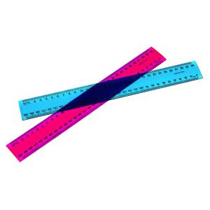 Marbig Ruler 30cm Metric Fluorescent