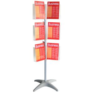 Esselte Brochure 1.5m Carousel Holder 18 Compartments A4 Clear