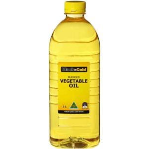 Black & Gold Vegetable Oil 2L Bottle Each