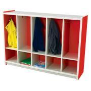Nadoli Kid Smart Coat Locker 900H x1654W x 400Dmm Red