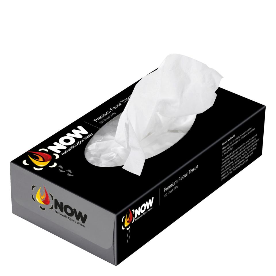 Nallawilli Office Wares Facial Tissue 2 Ply Box 100