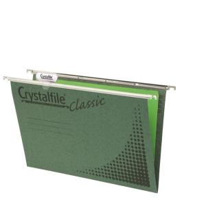 Crystalfile Suspension File Foolscap Complete 111130C Box 50 Green
