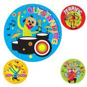 Avery Merit and Reward Stickers Cartoon Band 30 mm diameter Pack 102
