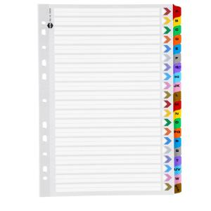 Marbig cellotab a4 a z tab divider multi coloured for Index divider templates
