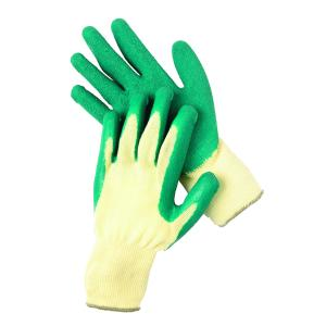 Safechoice Gloves Cotton Rubber Palm Coated Green Small Pair 12 Pack