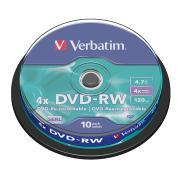 Verbatim DVD-RW 4.7 GB / 4x / 120 Min - 10-Pack Spindle
