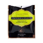 SereniTEA Infusions Organic Lemongrass & Ginger Enveloped Pyramid Tea Bags Pack 100
