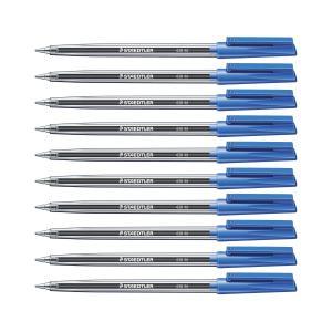 Staedtler Stick 430M Ballpoint Pen Medium 1.0mm Blue Box 10