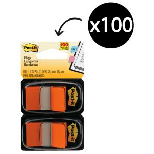 Post-It Flags 25.4 x 43.2mm Orange Pack 2