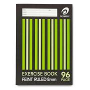 Olympic 140750 Exercise Book A4 8mm Stapled Ruled 96 Pages