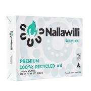 Nallawilli Carbon Neutral 100% Recycled Copy Paper A4 80gsm White Carton 5 Reams