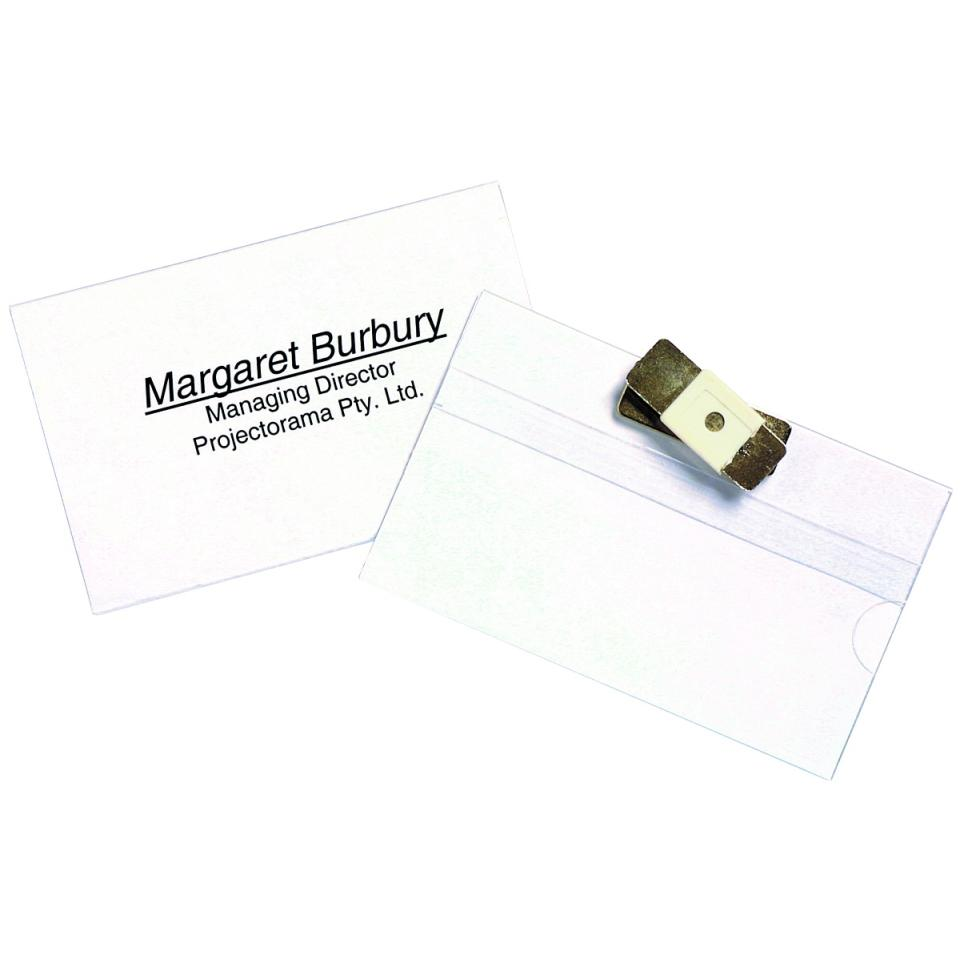 Rexel Magnetic Name Badge Holder Clear Pack 10