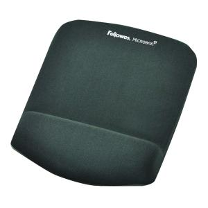 Fellowes PlushTouch Mouse Pad with Wrist Rest Graphite