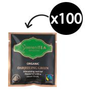 Serenitea Infusions Fairtrade Organic Green Tea Enveloped Pyramid Tea Bags Pack 100