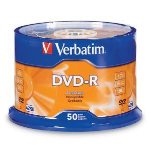 Verbatim DVD-R 4.7 GB / 16x / 120 Min - 50-Pack Spindle