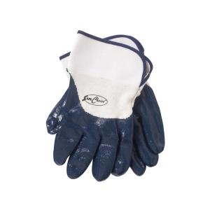 Safechoice Gloves Nitrile Coated Blue Knit Cuffs Large Pair 12 Pack