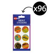 Avery Merit and Reward Stickers 30 mm Diameter Australian Art Pack 96