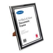 Carven Document Frame A4 Black & Silver