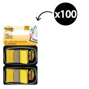 Post-It Flags 25.4 x 43.2mm Yellow Pack 2