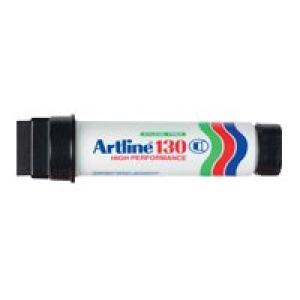 Artline 130 Permanent Marker Super Broad Square Tip 30.0mm Black Image