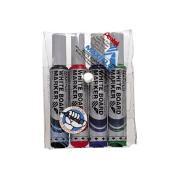Pentel Mwl5-4 Maxiflo Whiteboard Marker Bullet Wallet 4