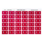 Avery 1 Side Tab Colour Coding Labels for Lateral Filing - 25 x 38mm - Magenta - 180 Labels